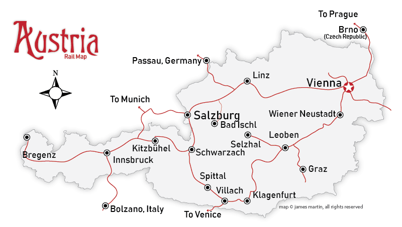 Map Of Italy And Austria With Cities.Austria Travel Weather And Climate When To Go To Austria