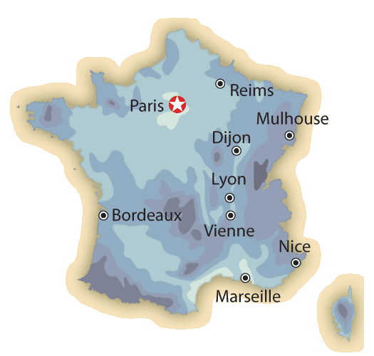 Map Of France Weather.France Travel Weather And Climate When To Go To France