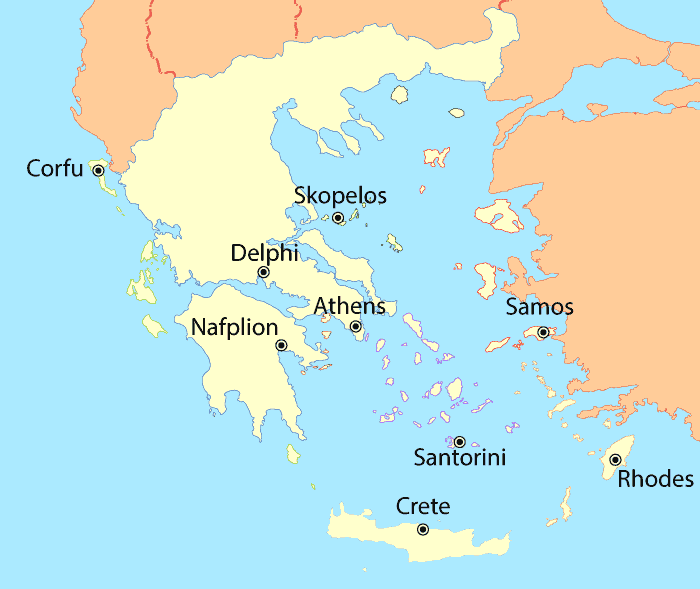 Greece Weather Map   Best Times to Go to Greece
