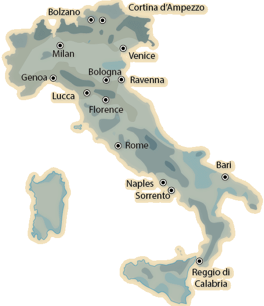 italy precipitation map