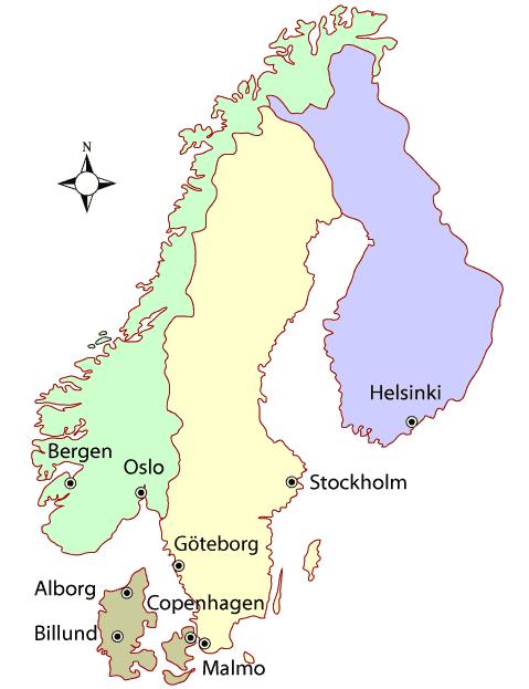 Scandinavia Weather Map - Best Times To Go to Scandinavia