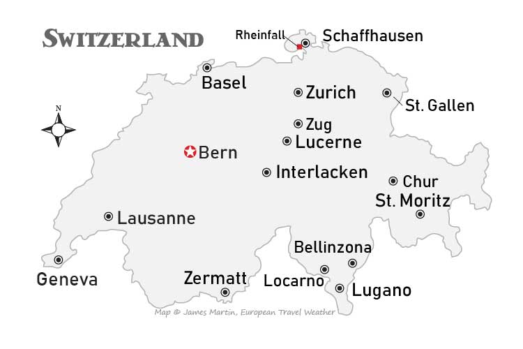 Switzerland Weather and Climate Map